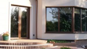 okno schuco orzech
